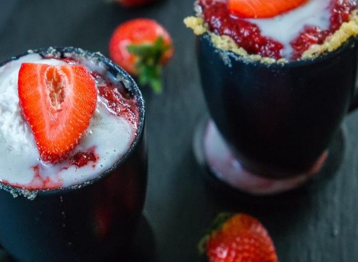 keto strawberry mug cake