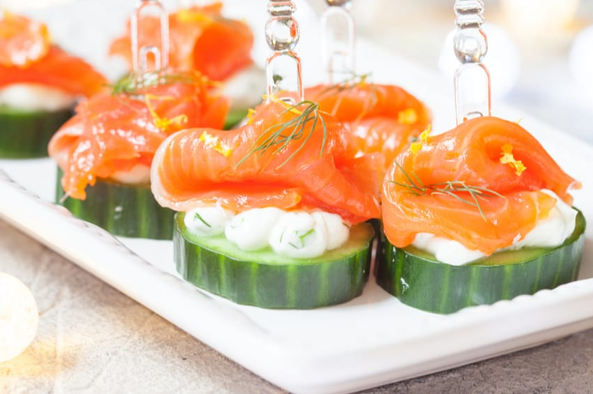 Smoked Salmon Appetizer with Cucumber
