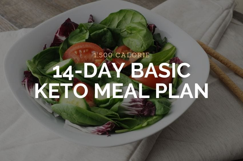 1,500 Calorie Basic Keto Meal Plan