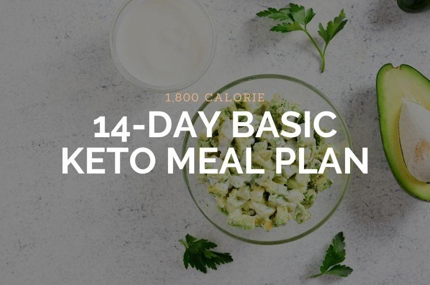 1800 Calorie Basic Keto Meal Plan