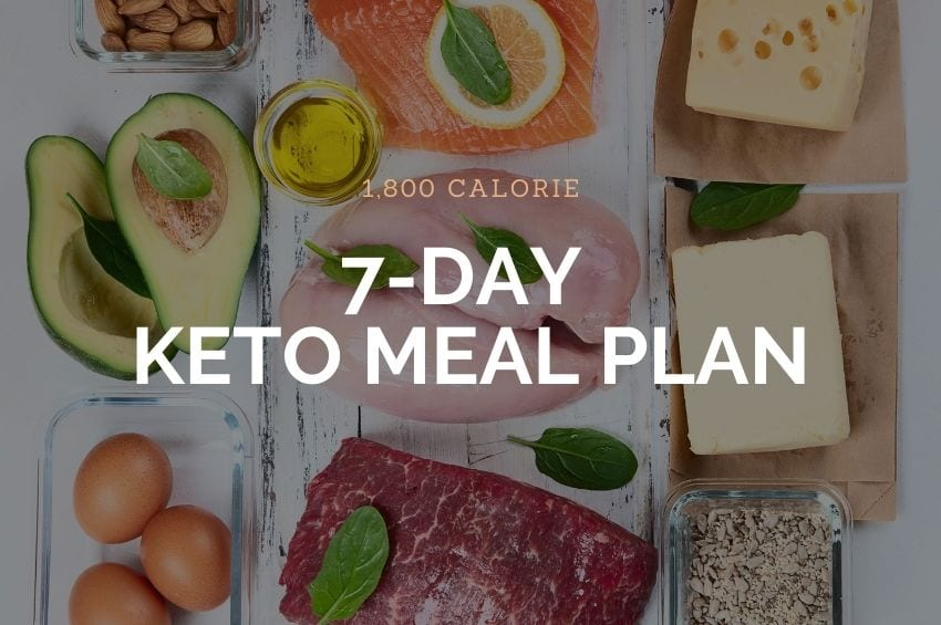 1800 Calorie 7-Day Meal Plan
