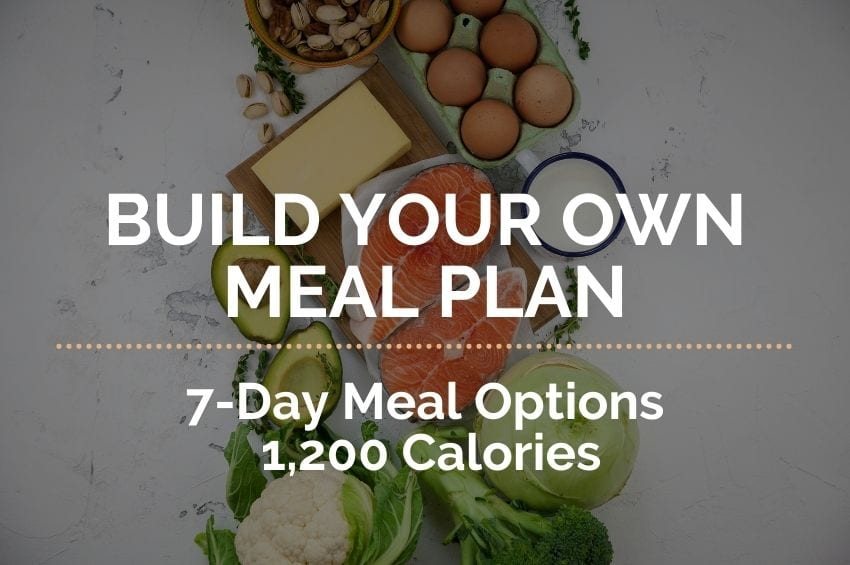 7-Day Build Your Own Meal Plan: 1,200 Calories