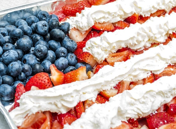 american flag berry tray