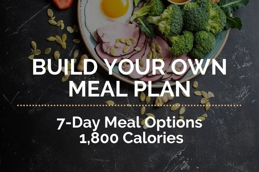7-Day Build Your Own Meal Plan: 1,800 Calories