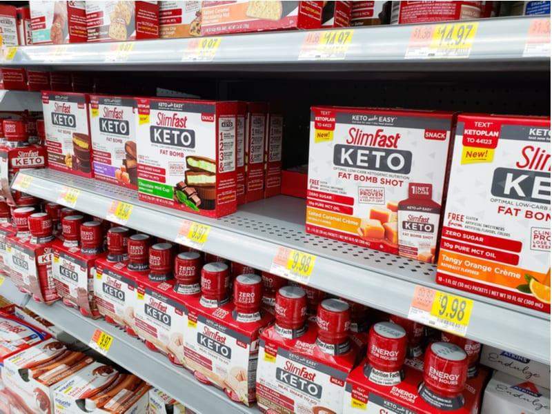 slim fast lazy keto products