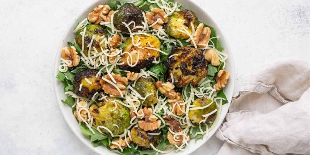 Brussels Sprout Salad with Walnut and Parmesan