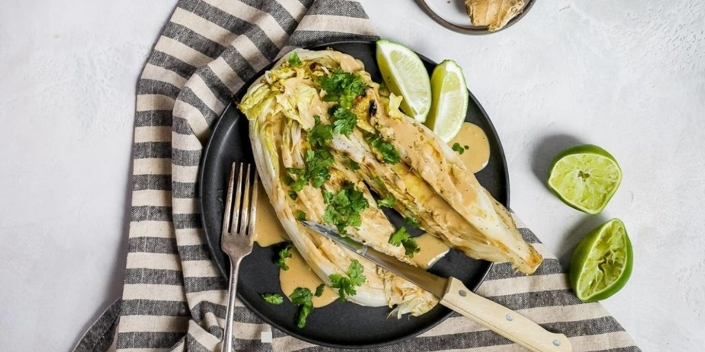 Keto Grilled Cabbage With Lime Dressing