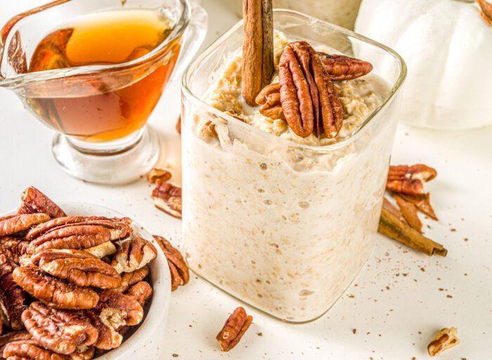 maple pecan keto oatmeal (benefits of flax seed)